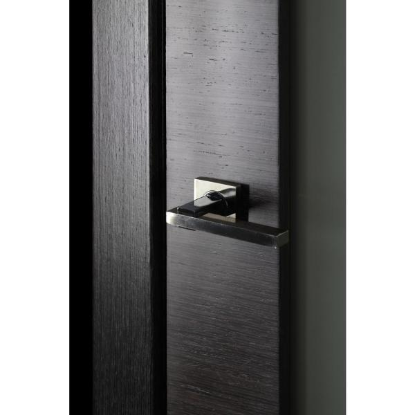 Belldinni 32 In X 80 In Avanti 202 Black Apricot Finished Solid Core Wood 1 Lite Frosted Glass Interior Door Slab No Bore 090986 The Home Depot