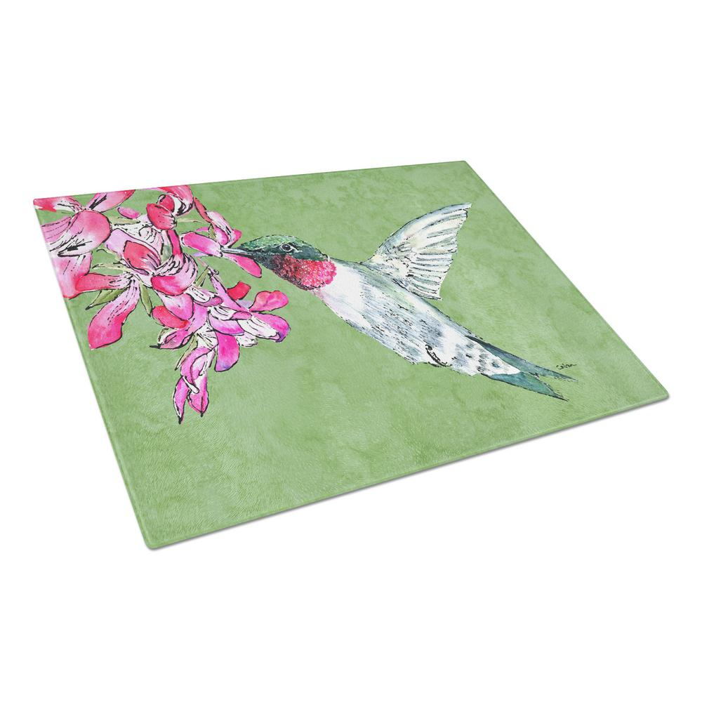 Hummingbird Tempered Glass Cutting Board