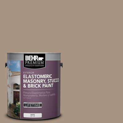 1 gal. #MS-24 River Stone Elastomeric Masonry, Stucco and Brick Exterior Paint
