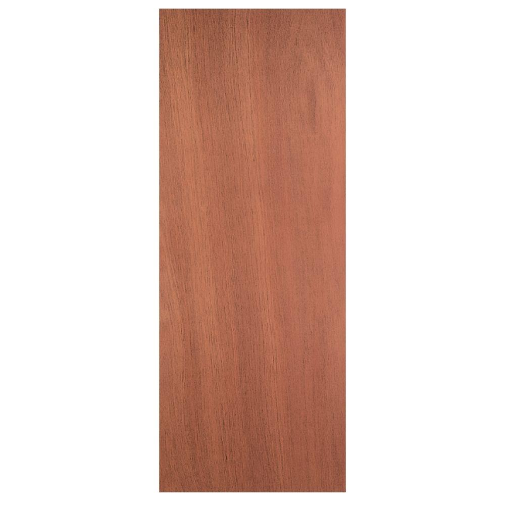 24 in. x 80 in. Smooth Flush Hardwood Solid Core Unfinished