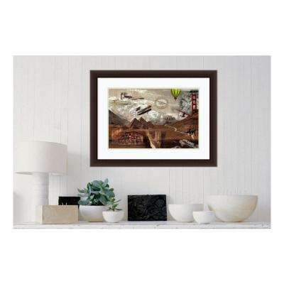 """26 in. H x 34 in. W """"World Travel"""" by """" Graphinc"""" Framed Print Wall Art"""