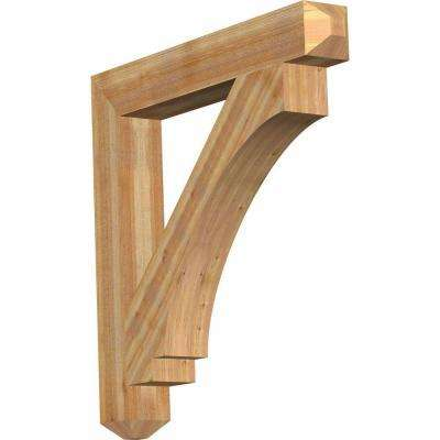 6 in. x 44 in. x 44 in. Western Red Cedar Imperial Craftsman Rough Sawn Bracket