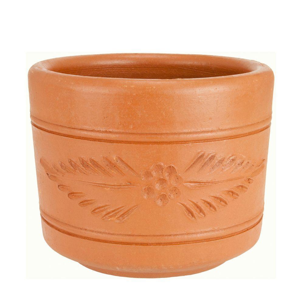 PR Imports 10 in. Round Terra Cotta Clay Cylinder