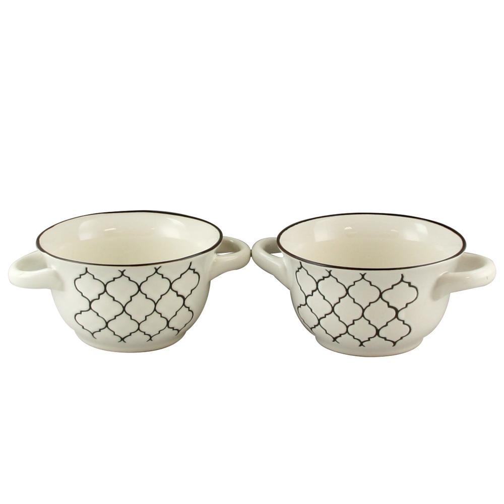 Crock-Pot Mathiston 2-Piece White Soup Bowl 985100819M