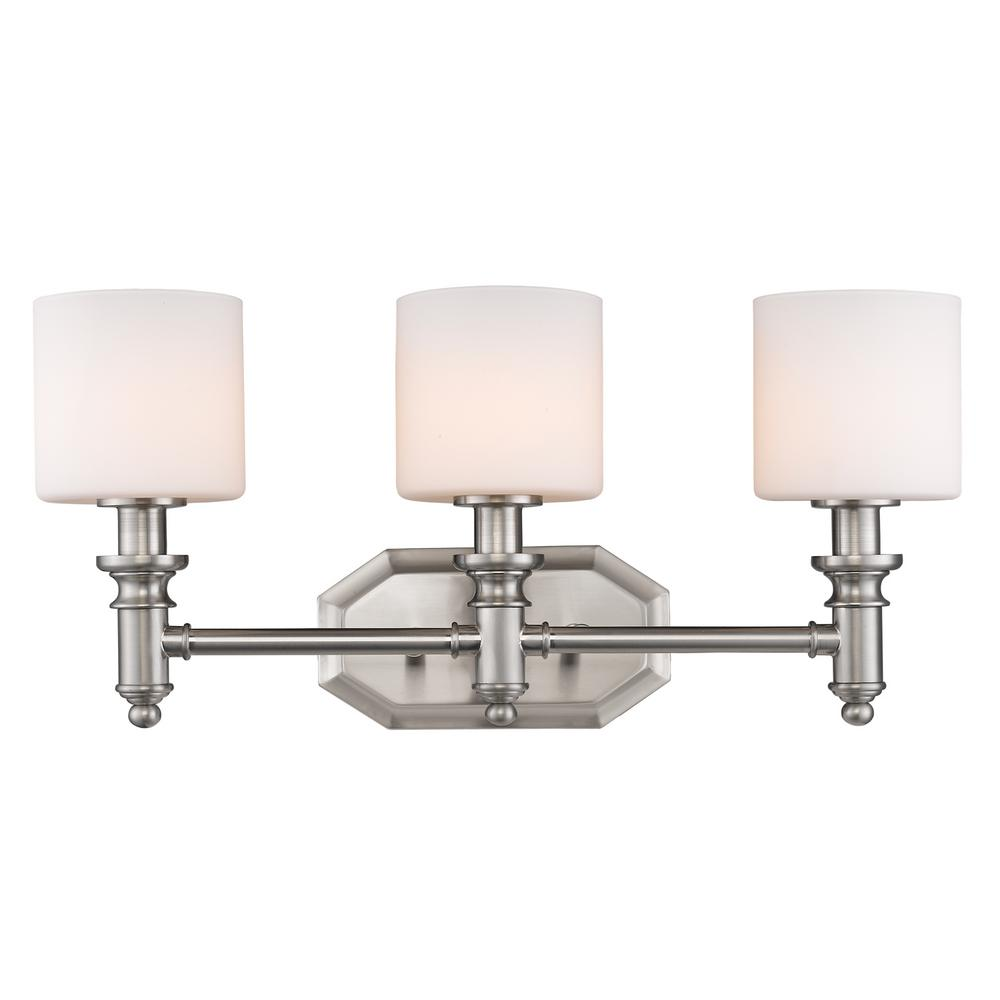 Beckford 3-Light Pewter Bath Light