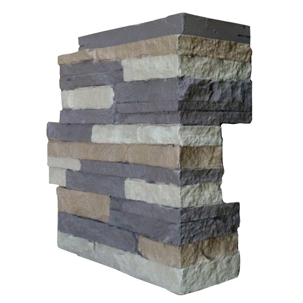 Stacked Stone Carolina Cocoa 4.25 in. x 13.75 in. Faux Stone