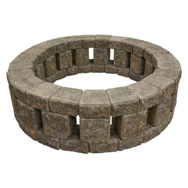 Stonehenge 58 in. x 16 in. Concrete Fire Pit Kit in Summit Blend
