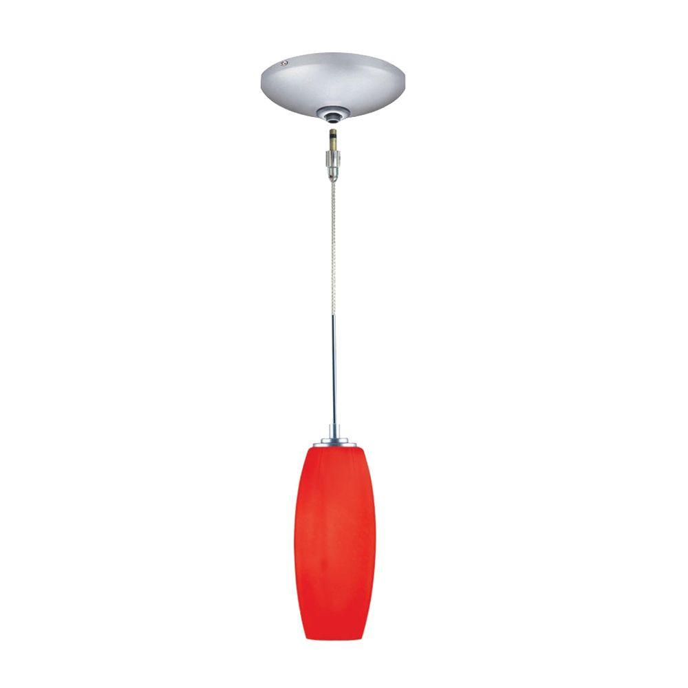 JESCO Lighting Low Voltage Quick Adapt 3-3/4 in. x 107-7/8 in. Red Pendant and Canopy Kit
