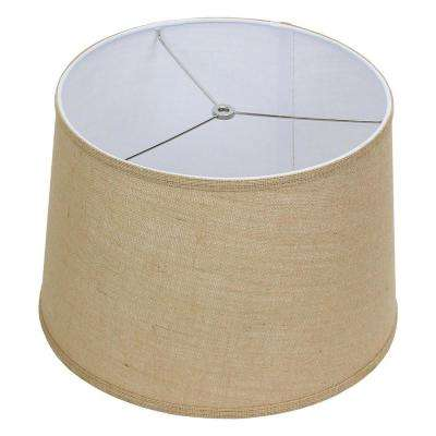 Fenchel Shades 14 in. Top Diameter x 16 in. Bottom Diameter x 11 in. Slant, Empire Lamp Shade - Burlap Natural