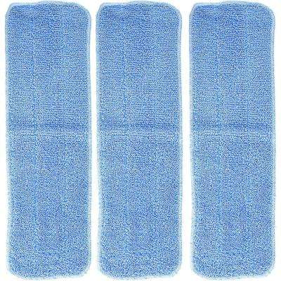 Replacement Microfiber Mop Pads, Compatible with Bona Mops, Washable and Reusable (3-Pack)
