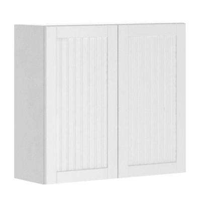 Odessa Ready to Assemble 33 x 30 x 12.5 in. Wall Cabinet in White Melamine and Door in White