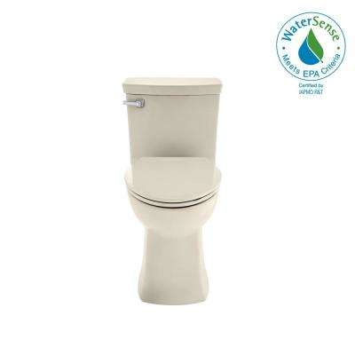 Townsend Vormax Tall Height 1-Piece 1.28/1.6 GPF Dual Flush Elongated Toilet in Linen, Seat Included