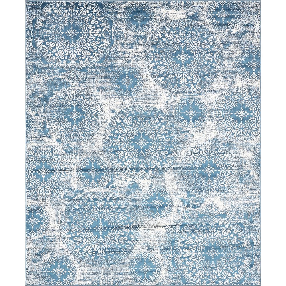Unique Loom Sofia Blue 8\' x 10\' Rug-3138669 - The Home Depot