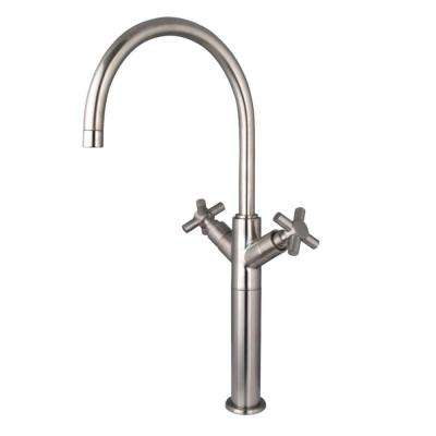 Concord Single Hole 2-Handle Bathroom Faucet in Brushed Nickel