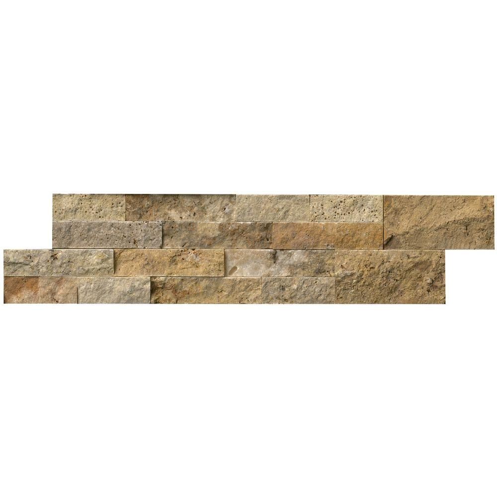 MSI Picasso Ledger Panel 6 in. x 24 in. Natural Travertine Wall Tile (10 cases / 60 sq. ft. / pallet)