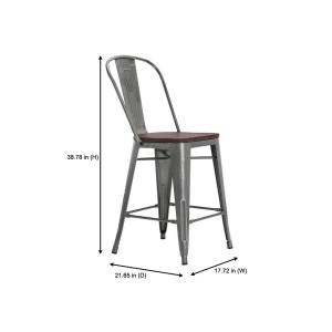 Awesome Stylewell Finwick Gunmetal Gray Metal Counter Stool With Forskolin Free Trial Chair Design Images Forskolin Free Trialorg