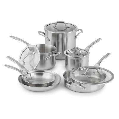 Signature 10-Piece Stainless Steel Cookware Set