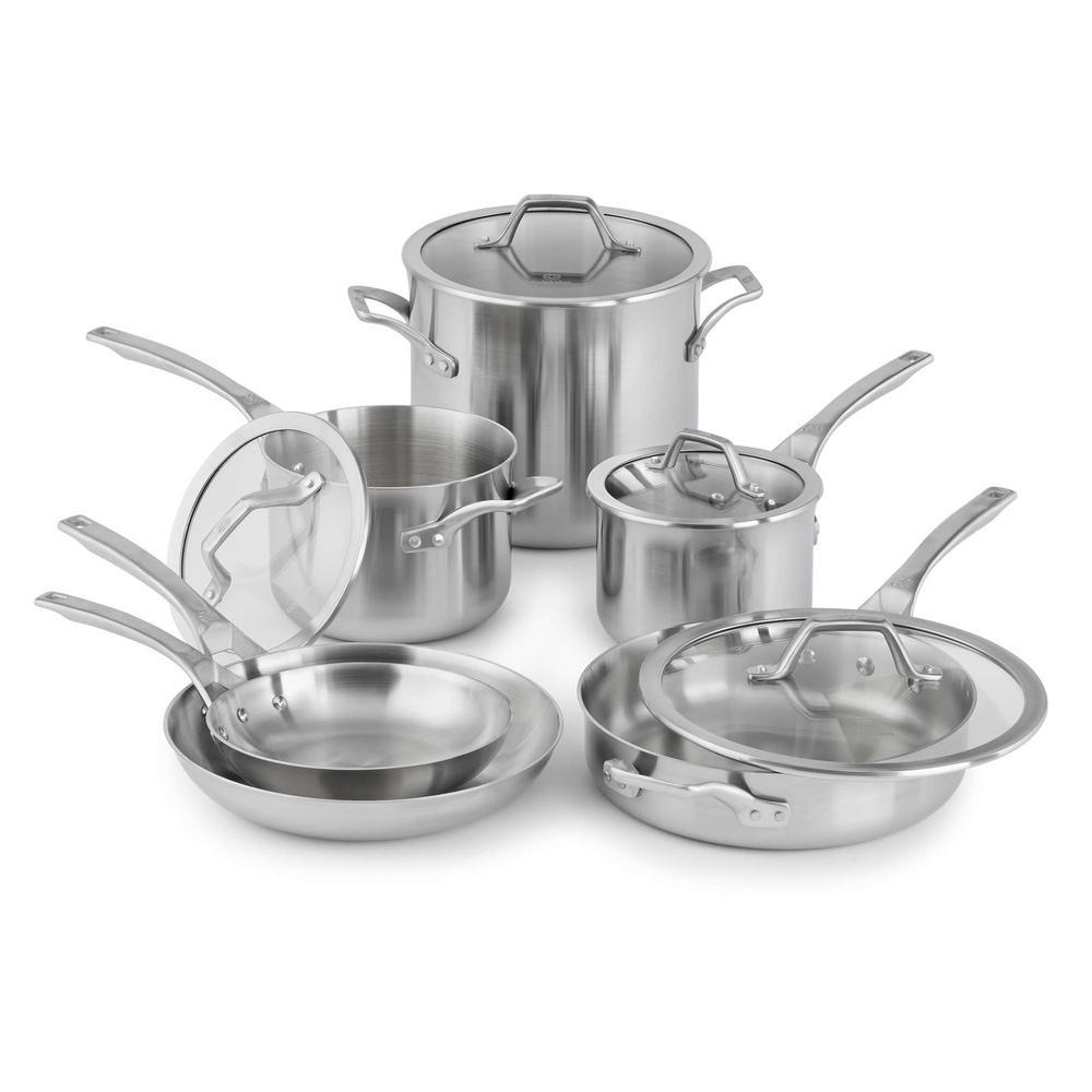 Calphalon Signature 10-Piece Stainless Steel Cookware Set 1950766