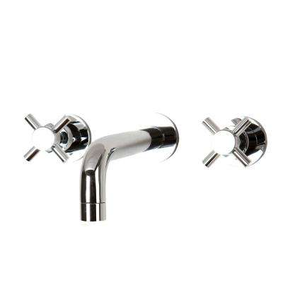 Cross - Chrome - Bathroom Sink Faucets - Bathroom Faucets - The Home ...