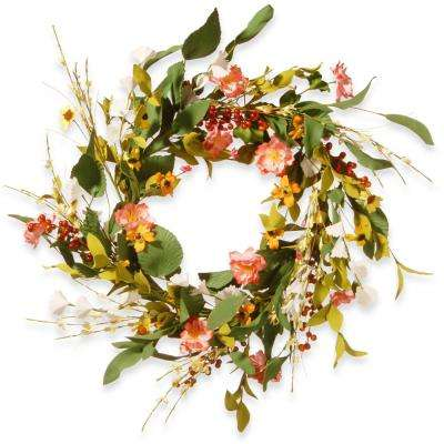 22 in. Flower Wreath