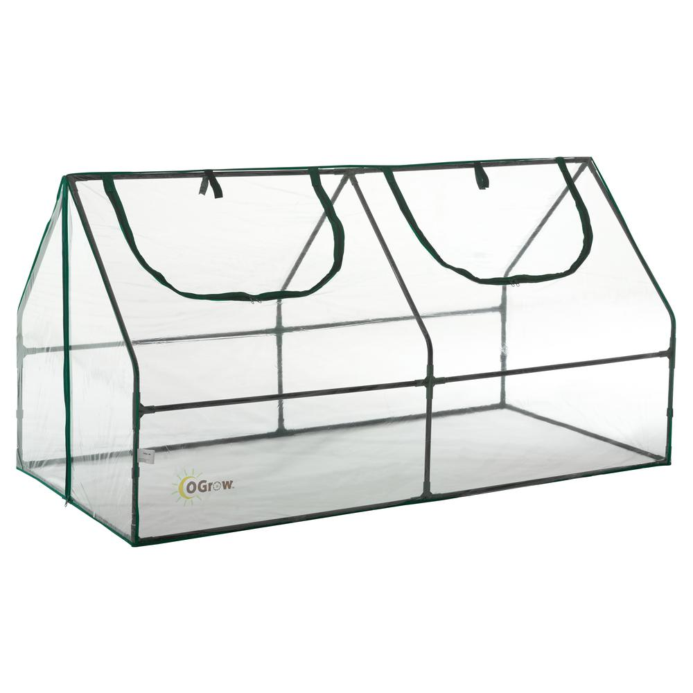 Ogrow 36 in. W x 71 in. D Ultra Deluxe Compact Outdoor Seed Starter Greenhouse Cloche