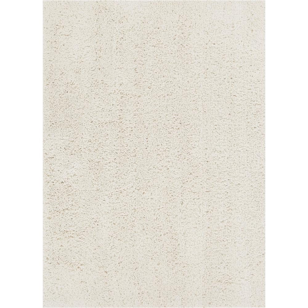 Well Woven Nomad Plain 2 Ft. X 3 Ft. Modern Solid White