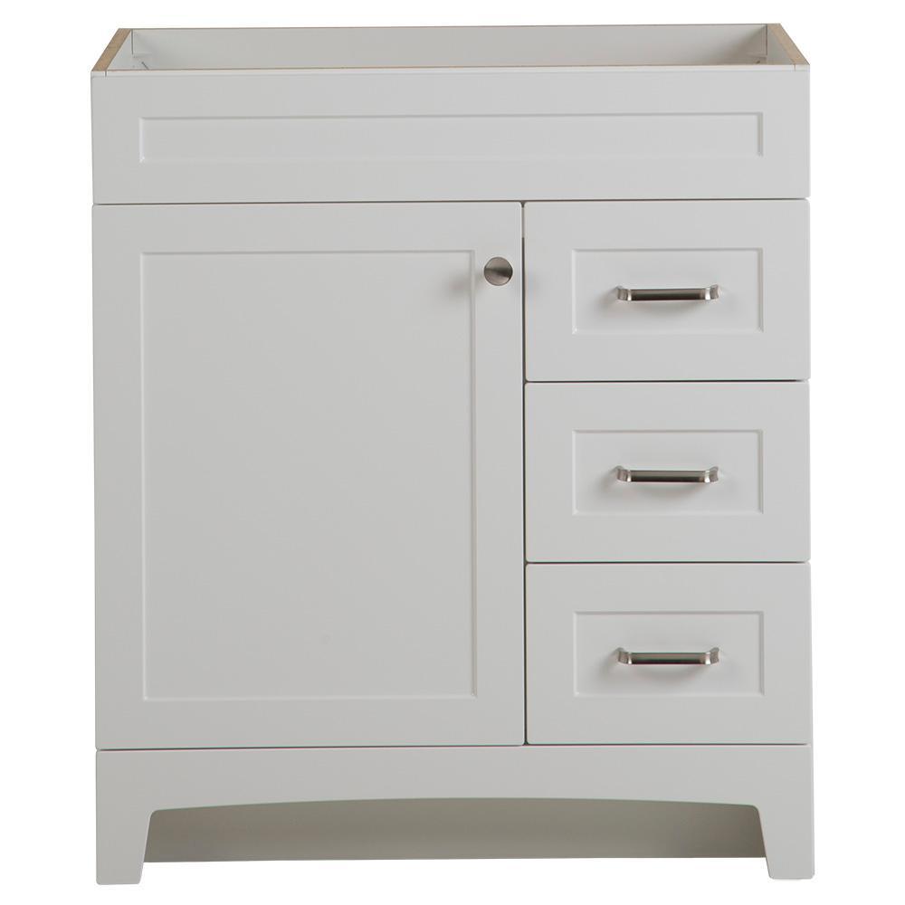 Thornbriar 30 in. W x 21 in. D Bathroom Vanity Cabinet in Polar White