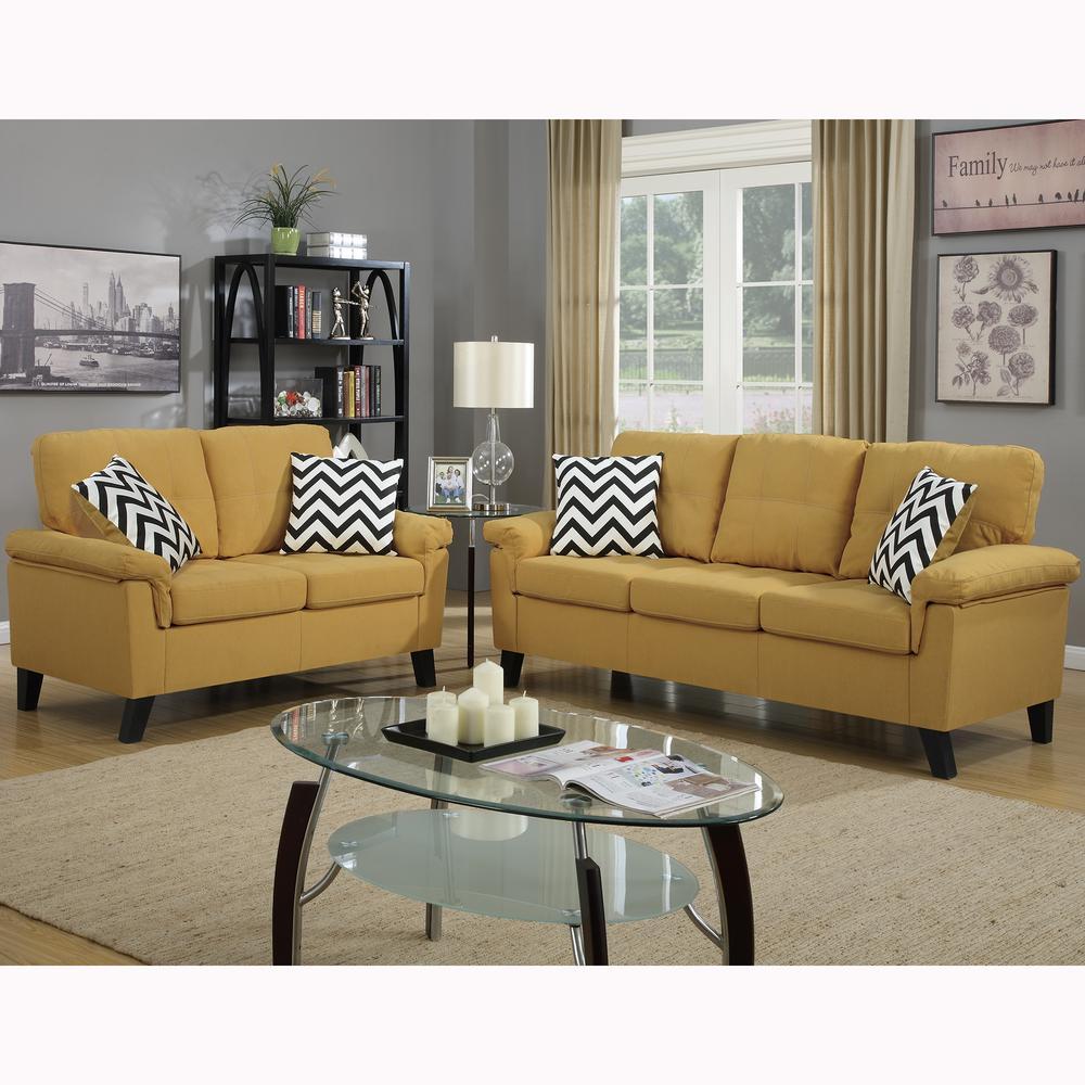 Venetian worldwide liguria 2 piece citrus sofa set vene f6906 the home depot - Hacer cojines sofa ...
