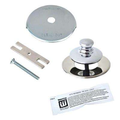 Universal NuFit Push Pull Bathtub Stopper, 1-Hole Overflow, Silicone Kit and Non-Grid Strainer, Chrome Plated
