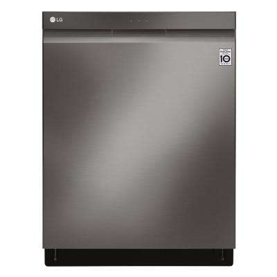Top Control Tall Tub Wi-Fi Enabled Dishwasher with QuadWash and TrueSteam in Black Stainless Steel, 44 dBA