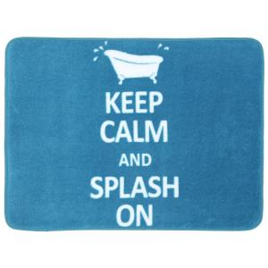 Mohawk Home Keep Calm and Splash on Teal 17 inch x 24 inch Bath Rug by Mohawk Home