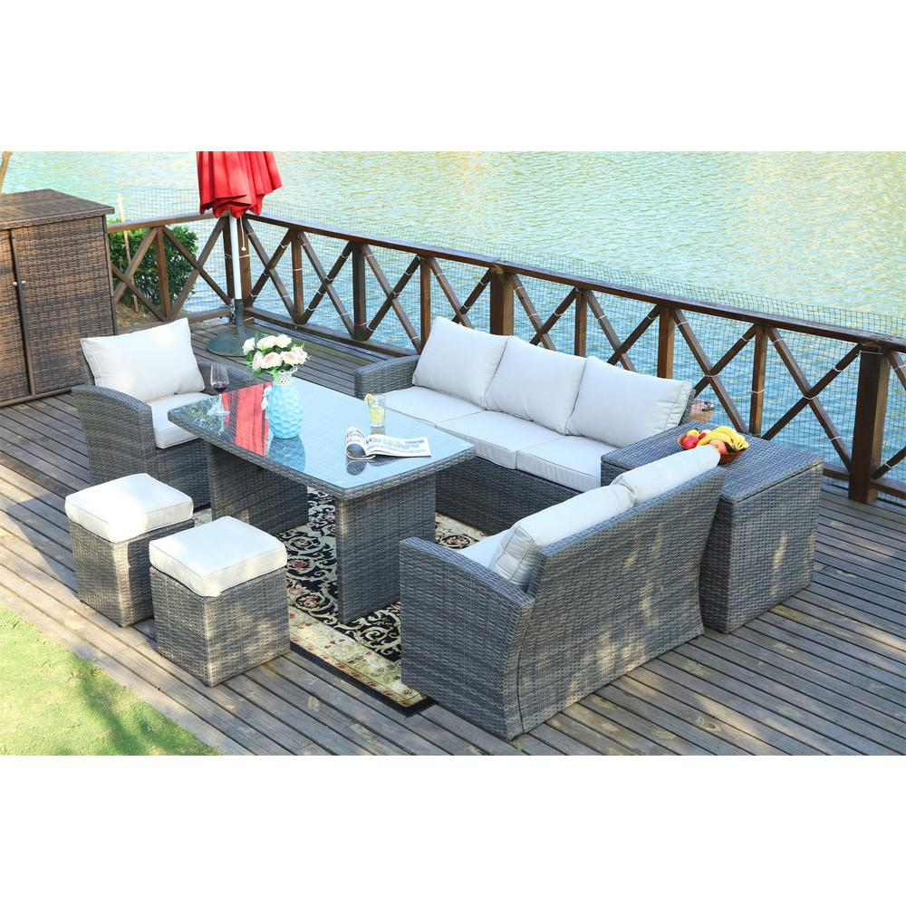 Direct Wicker Cannes Variegated Grey 7