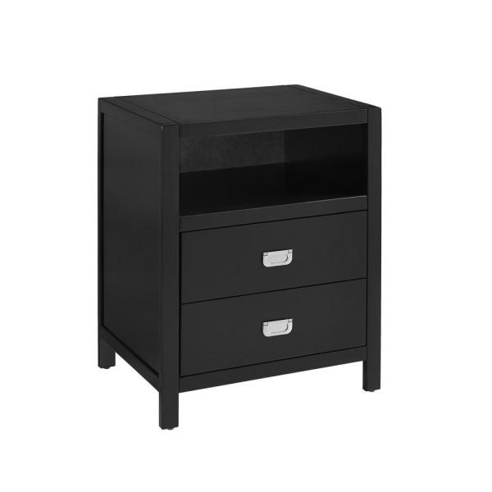 Linon Home Decor Sara Black End Table THD01913