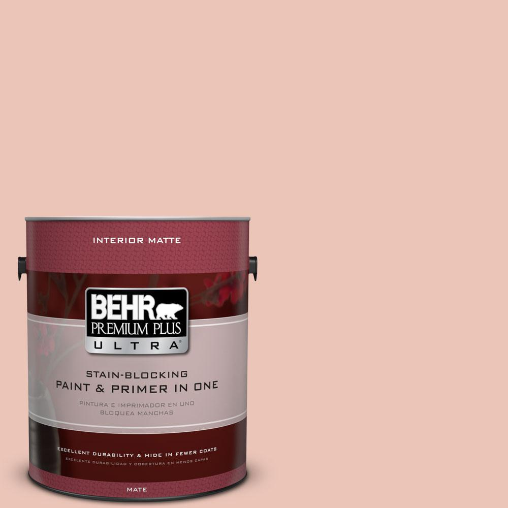 BEHR Premium Plus Ultra Home Decorators Collection 1 gal. #HDC-CT-14 Coral Coast Flat/Matte Interior Paint