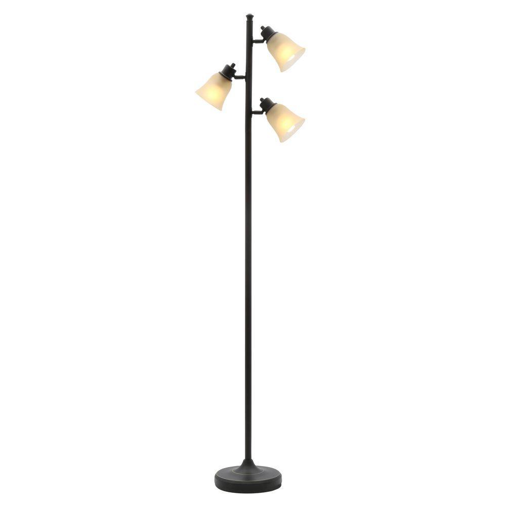 Hampton Bay 70 In Bronze Track Tree Floor Lamp Ttl 20
