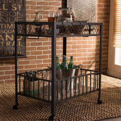 Bentley Medium Brown Wood Serving Cart