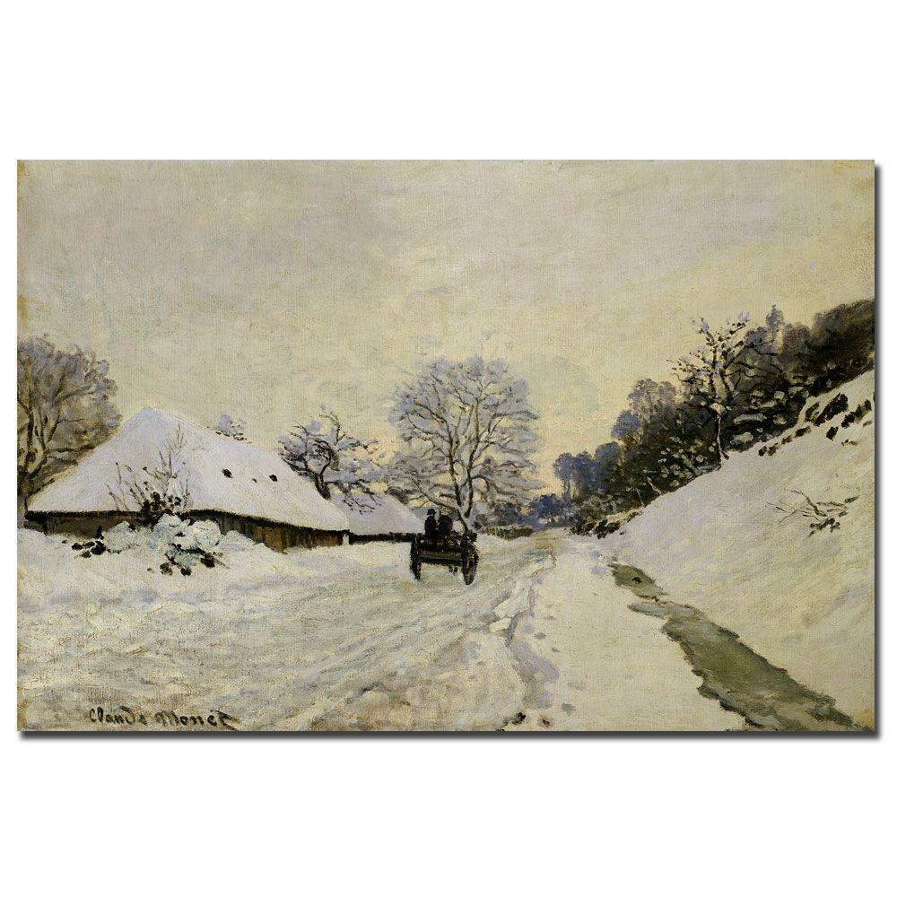 Trademark Fine Art 16 in. x 24 in. The Cart 1865 Canvas Art