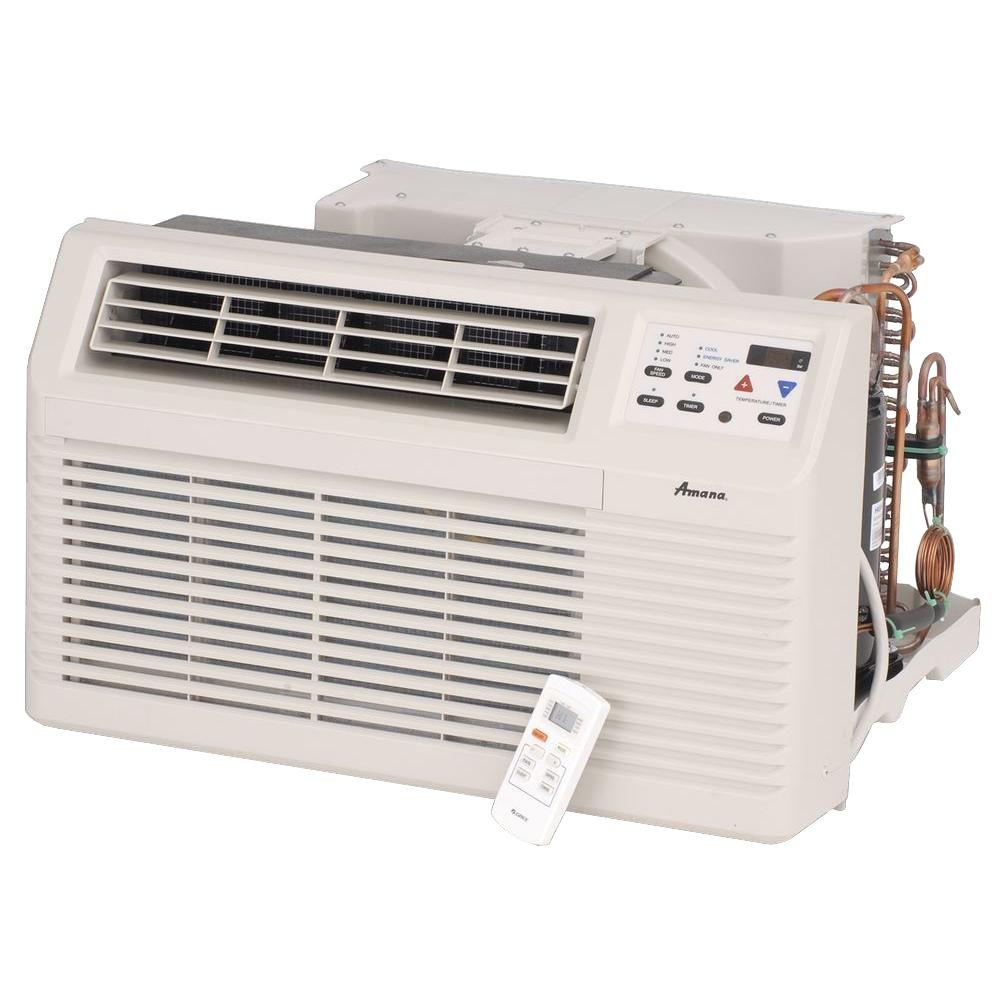 Amana 11,700 BTU 230-Volt/208-Volt Through-the-Wall Air Conditioner and Heat Pump with 3.5 kW Electric Heat and Remote