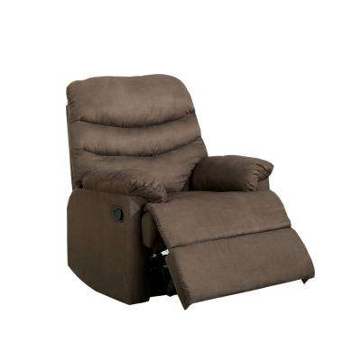 Bardi Light Brown Microfiber Recliner Chair