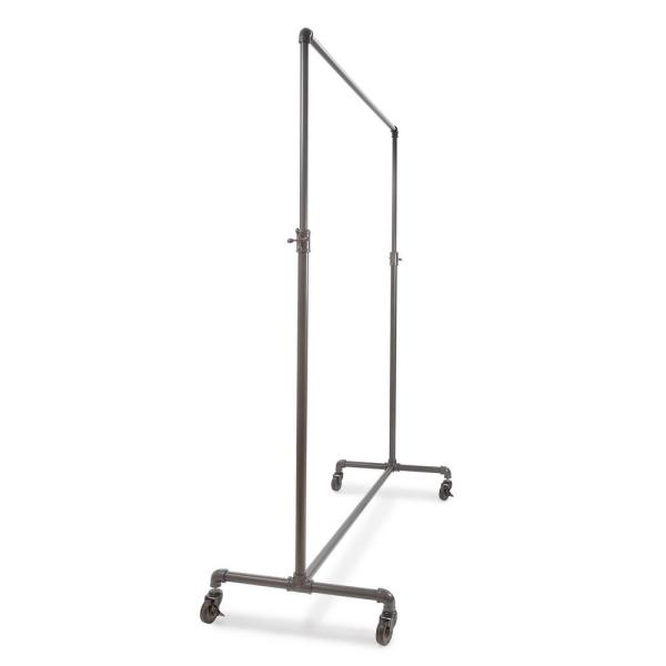 Pipeline Gray Steel Adjustable Clothes Rack with Wheels (60 in. W x 72 in. H)
