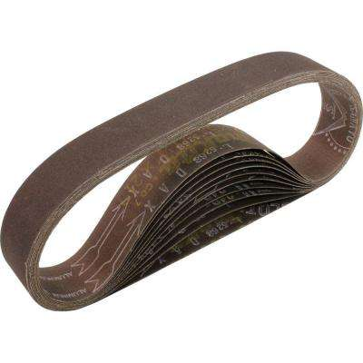 1-1/8 in. x 21 in. 240-Grit Abrasive Belt (10-Pack)