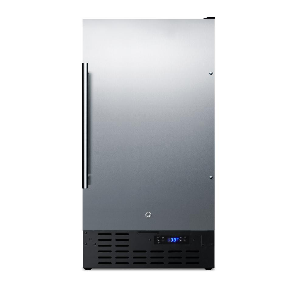 18 in. W 2.7 cu. ft. Freezerless Refrigerator in Stainless Steel