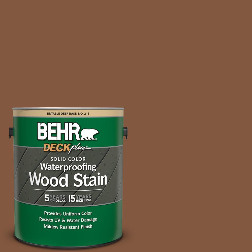 BEHR DECKplus 1 gal  #SC-116 Woodbridge Solid Color Waterproofing Exterior  Wood Stain