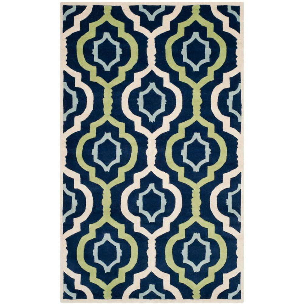 Chatham Dark Blue/Multi 6 ft. x 9 ft. Area Rug