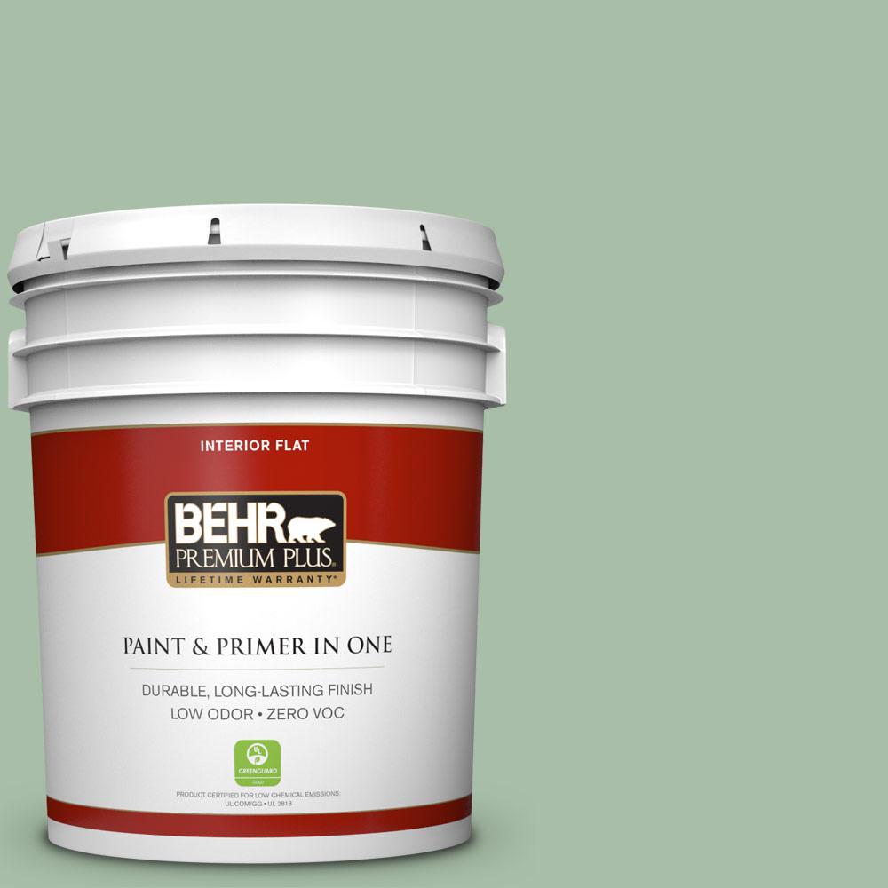 BEHR Premium Plus 5-gal. #S400-4 Azalea Leaf Flat Interior Paint