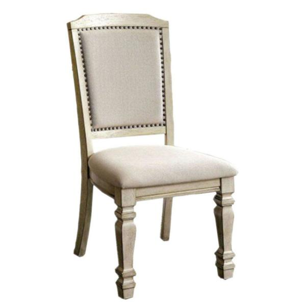 Holcroft Transitional Beige Wooden Side Chair (Set of 2)
