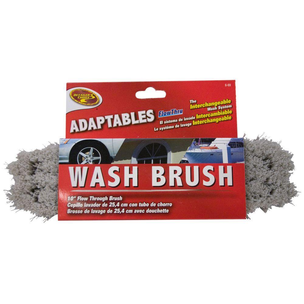 Adaptables 10 in. Flow-Thru Wash Brush Head