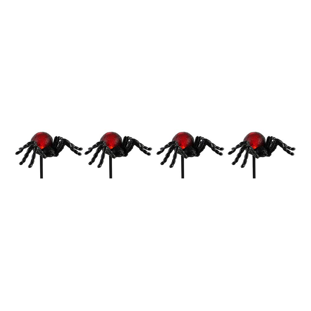 Home Accents Holiday 12-4/8 in. Spider Pathway Markers with LED Illumination (4-Set)