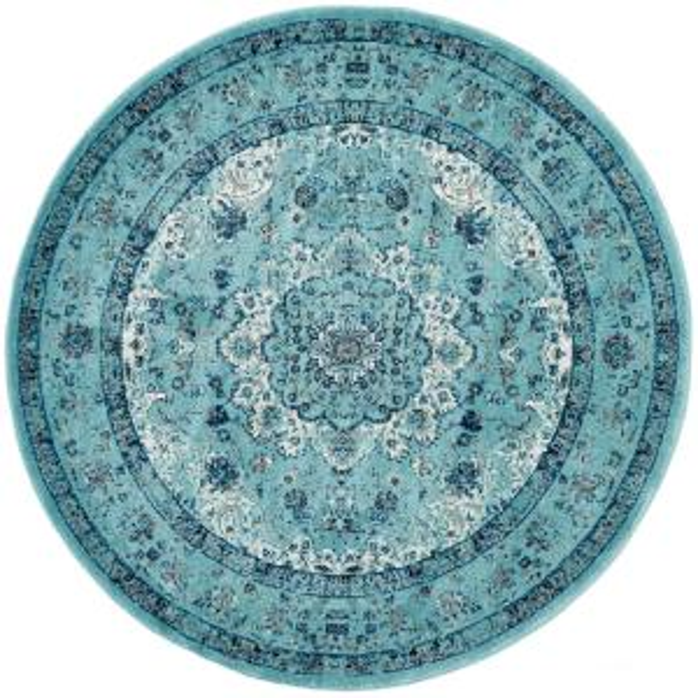 Safavieh Evoke Light Blue 6 ft. 7 inch x 6 ft. 7 inch Round Area Rug by Safavieh