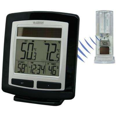 Solar Powered Temperature and Humidity Station with Solar Sensor
